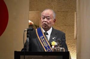 45周年の挨拶をする髙野会長