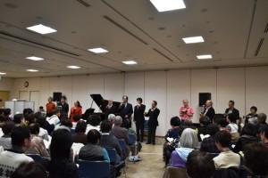 ボニージャックス、実行委員、参加者が全員で歌う