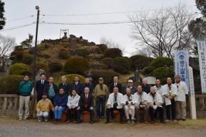 志木ロータリークラブと田子山富士保存会の皆さん