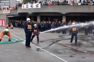 宗岡4区自警消防隊による小型ポンプ操法